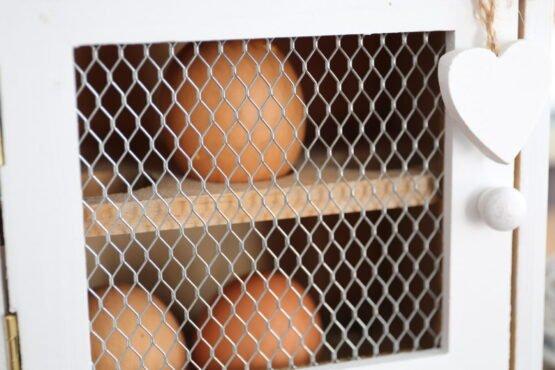Porta uova cuore bianco