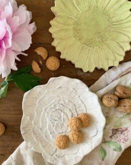 Piatto ceramica margherita