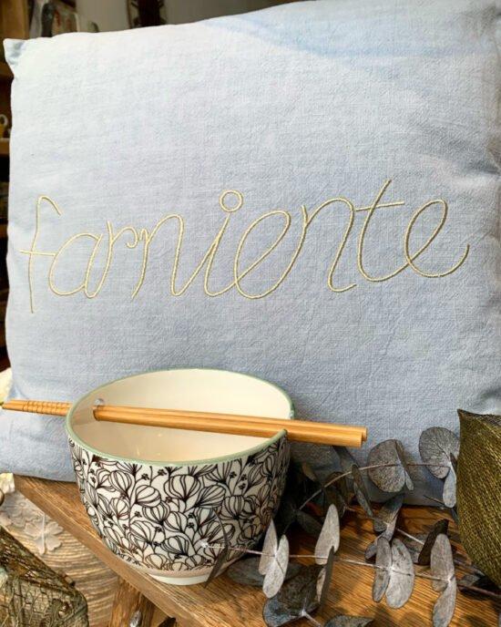 cuscino scritta farniente