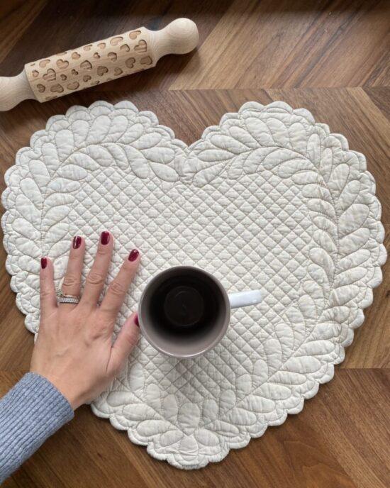 cuore in cotone per mise en place