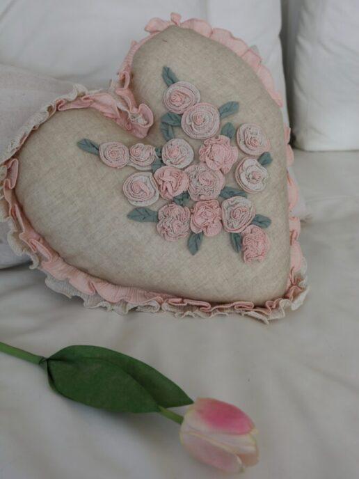 Cuscino rose cuore