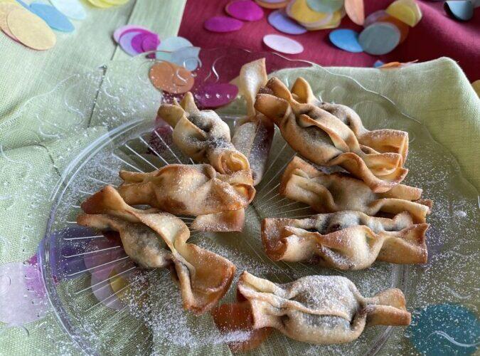 bugie di carnevale a forma di caramelle